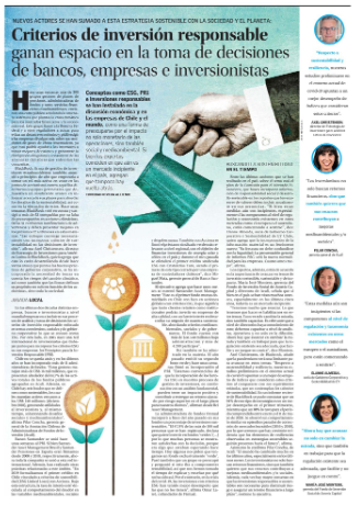 Criterios De Inversión Responsable Ganan Espacio En La Toma De Decisiones De Bancos, Empresas E Inversionistas