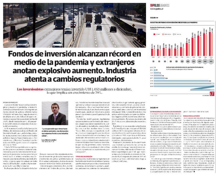 Fondos De Inversión Alcanzan Récord En Medio De La Pandemia Y Extranjeros Anotan Explosivo Aumento. Industria Atenta A Cambios Regulatorios